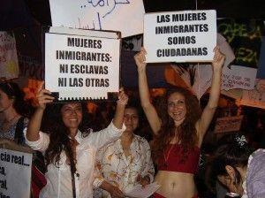 Mujeres Migradas en Acampada 15M 2011 Madrid